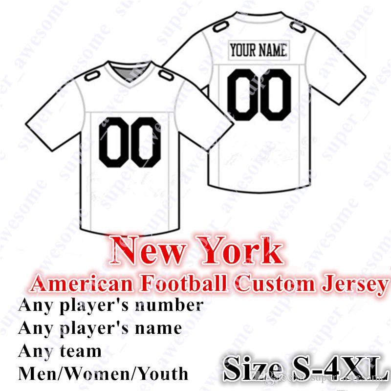 Sur mesure Jersey de Football Américain New York 26 Barkley 8 Jones 15 Tate 97 Lawrence 27 Baker 53 Ximines Taille S- 4XL Mix Ordre Hommes Femmes