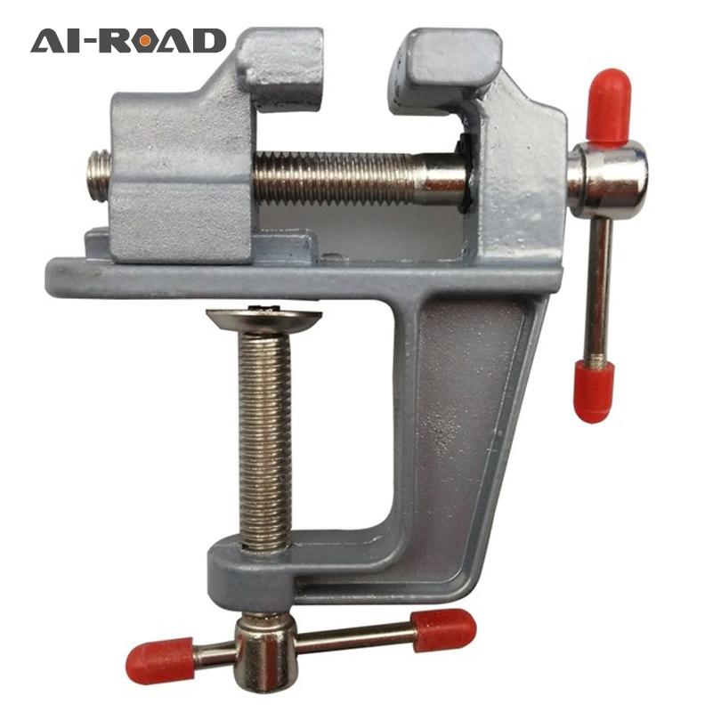 High Quality New Aluminum Small Jewelers Hobby Clamp On Table Bench Vise Mini Hand Tool Vice Hot Universal Mini Bench Vise 1PC