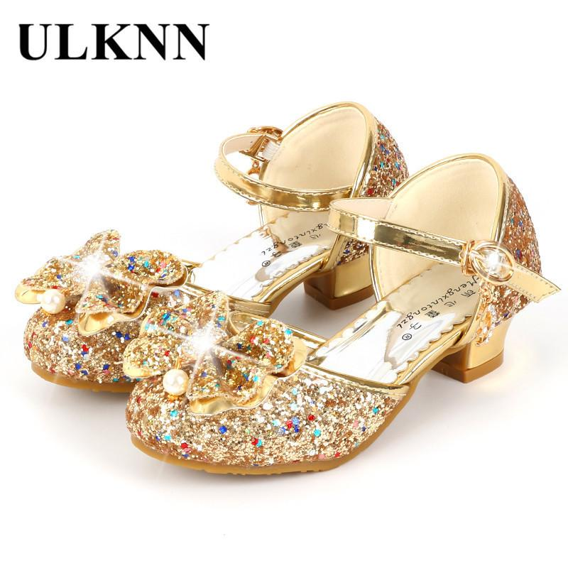 0323b8f88f Ulknn Flower Children Sandals Summer Beach Princess Girl Shoes For Kids  Glitter Wedding Party Sandalia Infantil Chaussure Enfant Q190601
