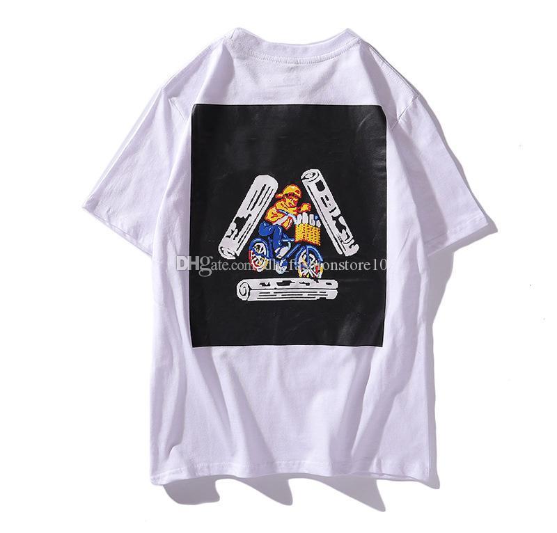 4801f5c1 19SS Stussy Mens T Shirts Vlone Thrasher Creative Badge Printing Hip Hop  Tees Dickies Mens Womens Streetwear Skateboard Sports Tees Suprême Cool Tee  Shirt ...