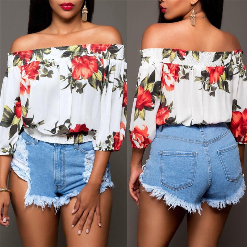 Şık Bayan Yüksek Bel Mini Kot 2018 Yaz Plaj Sıcak Demin Moda Bayanlar Delik Sıkıntılı Kısa Jeans Yıkanmış Ripped