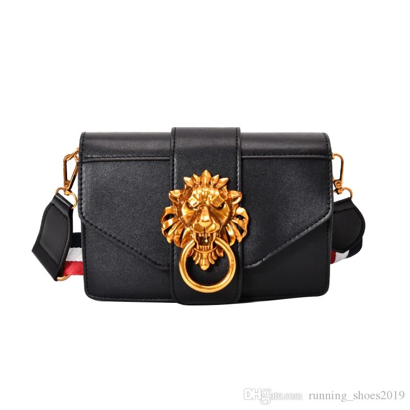 9f28e0e843f0 2018 Metal Lion Head Mini Small Square Pack Shoulder Bag Crossbody Package  Clutch Women Designer Wallet Handbags Bolsas Sac #93099 Cheap Designer  Handbags ...