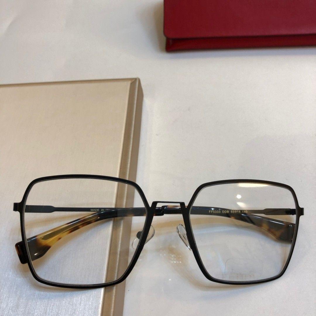 a28abf2c88da 2019 New Eyeglasses Frame Women Men Brand Designer Eyeglass Frames Designer  Brand Eyeglasses Frame Clear Lens Glasses Frame Oculos 0333 With Case From  ...