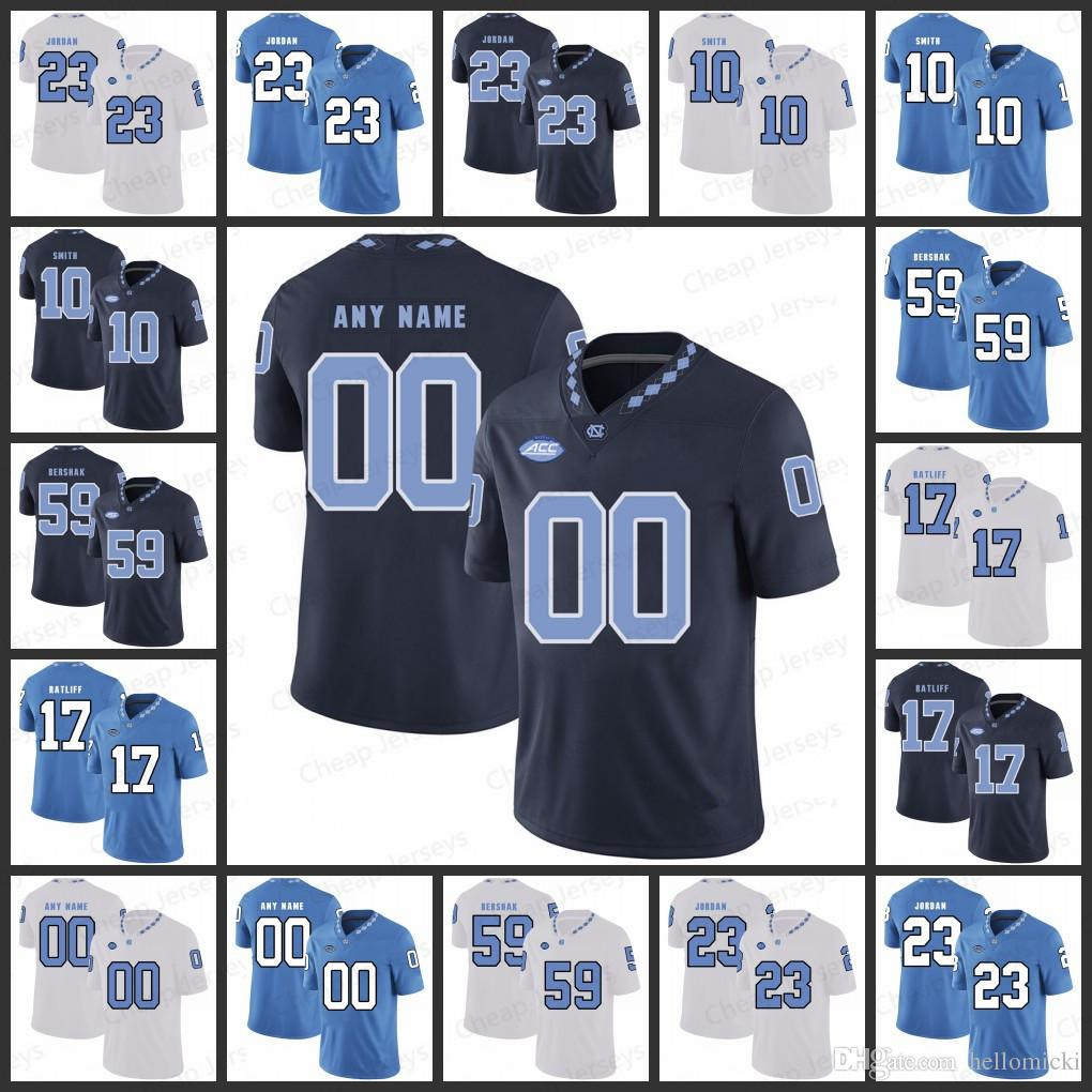 timeless design 6976f 2f067 Custom Mens North Carolina Jerseys 10 Andre Smith 59 Andy Bershak 17  Anthony Ratliff-Williams All stitched College Football Jersey