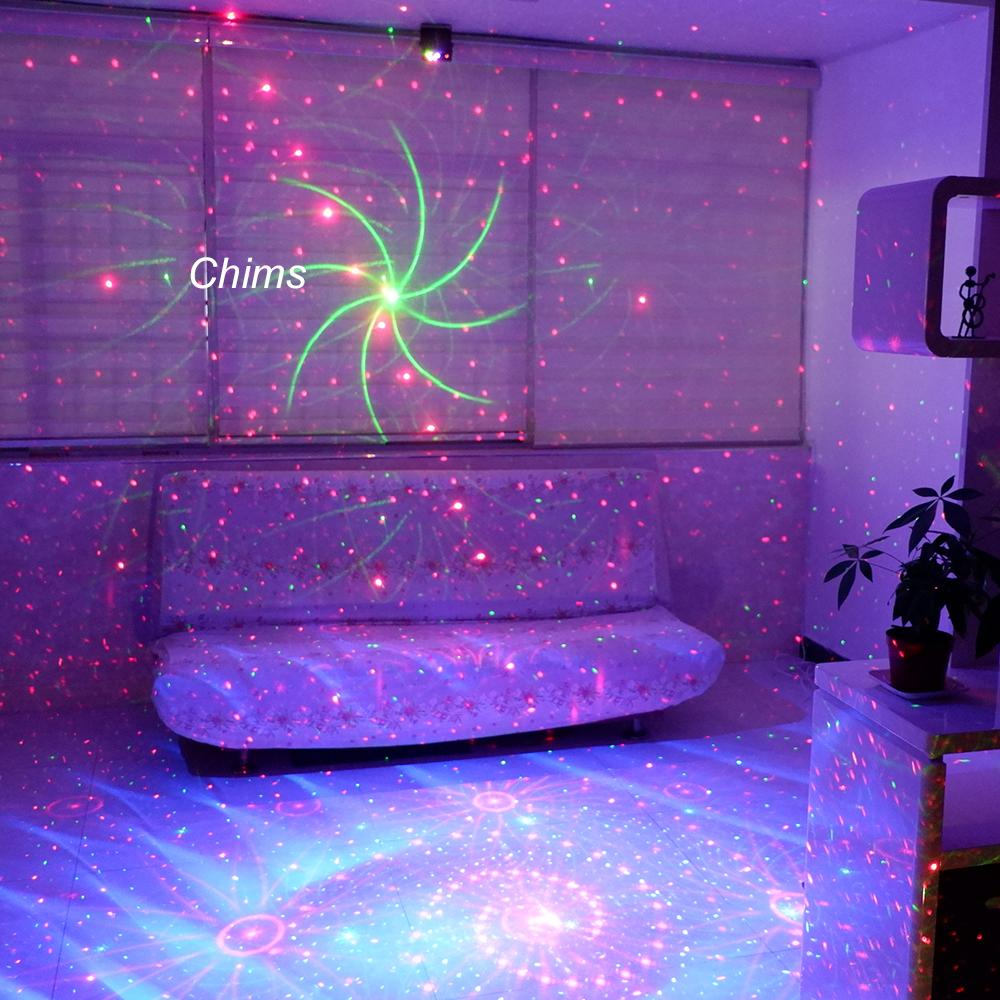 Chims Stage Light RGB Disco Laser 96 Patrón Luz láser DJ Luces LED Efecto Colorido Fiesta Proyector Laser Show Xmas Music Bar