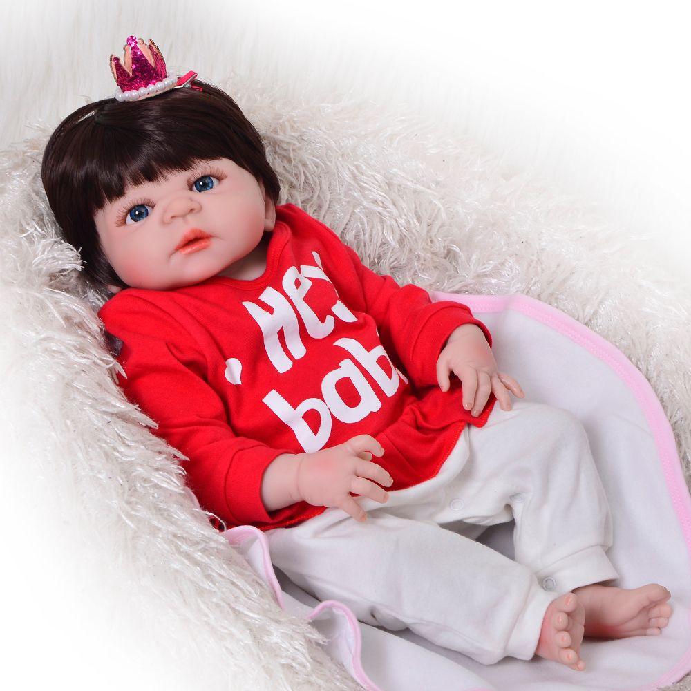 6eaa749b45cdf Acheter Véritable Silicone Reborn Baby Doll 23 57cm Enfant Fille ...