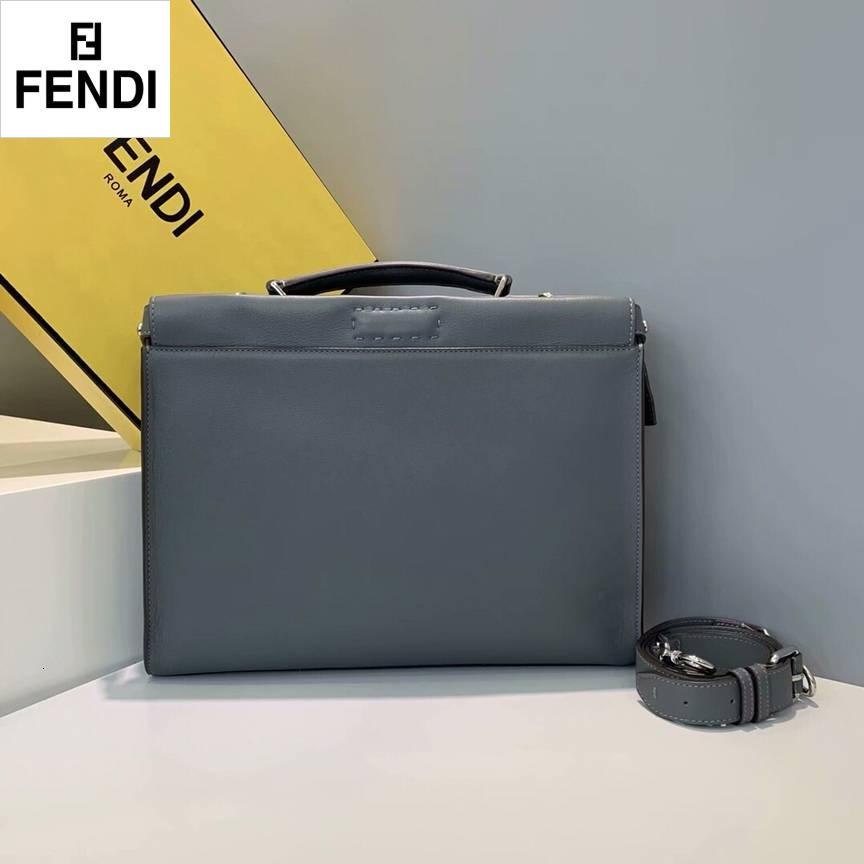 FEND Roman leather slim tote 1517A dark grey New Men HANDBAGS ICONIC BAGS TOP HANDLES SHOULDER BAGS TOTES CROSS BODY BAG CLUTCHES EVENING