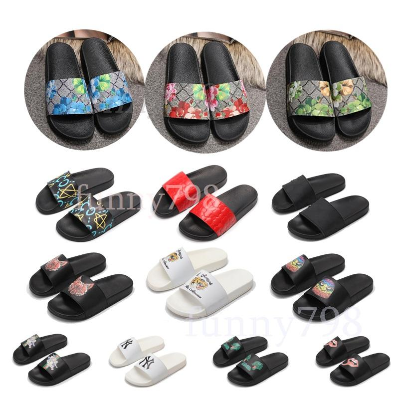 new Designer Slippers Ace embroidered sandals fashion Bee Stripe Men slides Women Casual pool chaussures flip flop Sneakersgucci