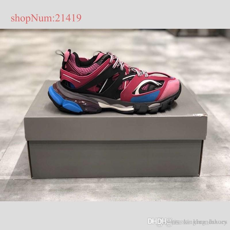High quality newest pink daddy shoes matching vintage sneakers couple casual shoes men women breathable sneakers