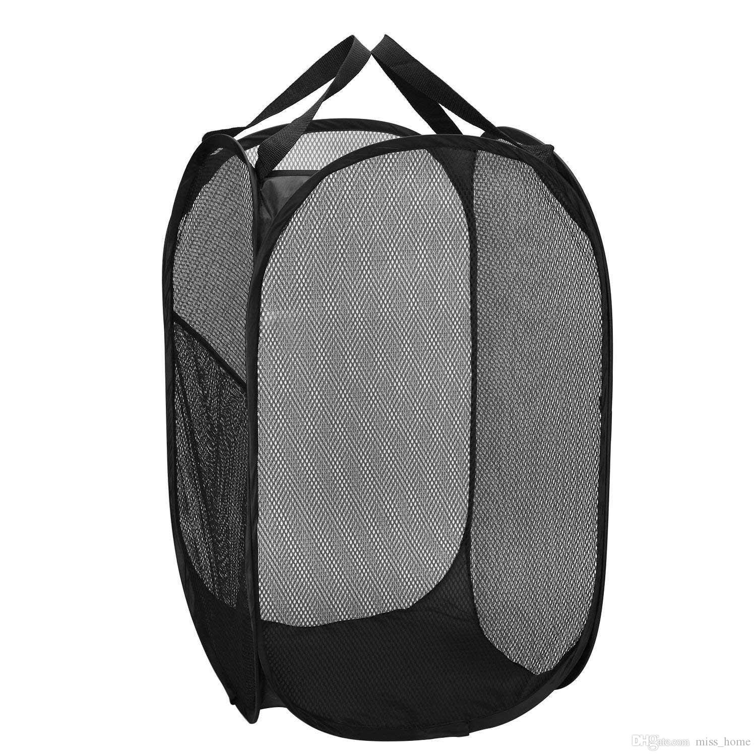 f856051c1028 Top Quality Mesh Popup Laundry Hamper - Portable, Durable Handles,  Collapsible for Storage and Easy to Open. Folding Pop-Up Clothes Hampers