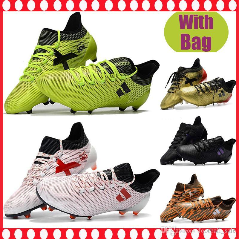 dd640b9976ad9 Cheap Mens Football Boots X 17+ Purechaos FG Soccer Shoes Messi X 17.1 Pure  Chaos Purecontrol Soccer Cleats Outdoor botas de futbol