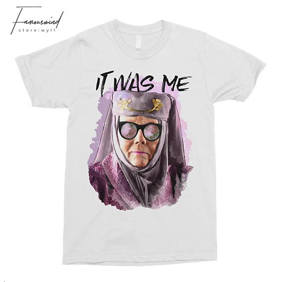 Tell Floral Cersei Game Of Thrones Shirt Olenna Tyrell Crew Neck Shirt Funny T-Shirt It Was Me Pop Culture T-Shirt Got Shirt