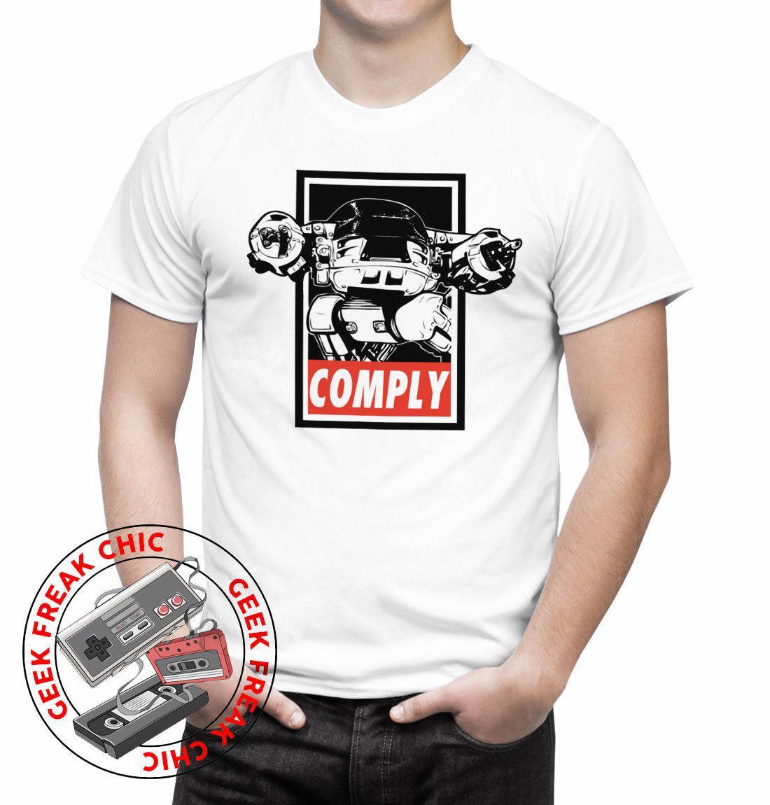 429c7969a Compre Robocop ED 209 COMPLY Camiseta Masculina Filmes 80s Alex Murphy  Ficção Científica De Mentality80, $11.48 | Pt.Dhgate.Com