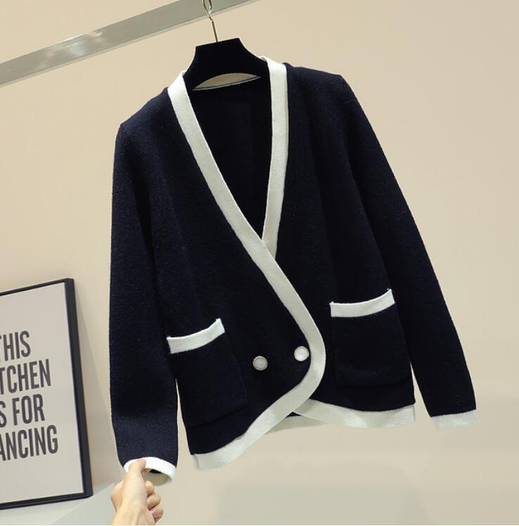 a70482a54fa Compre Cárdigan De Invierno Para Mujer 2019 New Loose Escote En V Cardigan  Suéter Estilo Coreano Chaqueta Larga De Punto Chaqueta Básica Abrigos  Estudiante ...