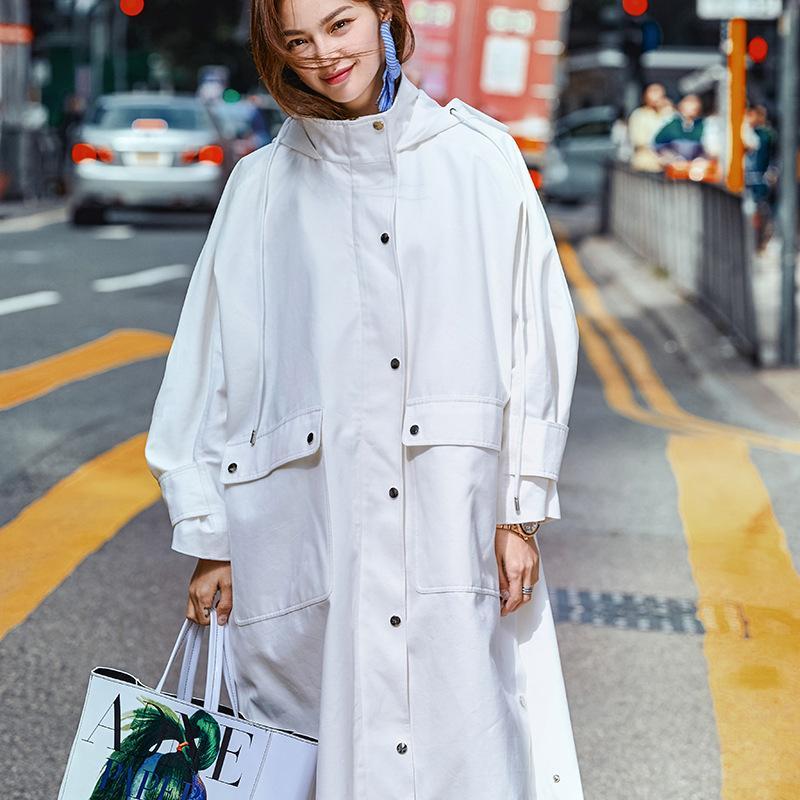 6f81e6be1 2019 High Street Fashion Oversized Spring Coat Women Plus Size 2019 ...