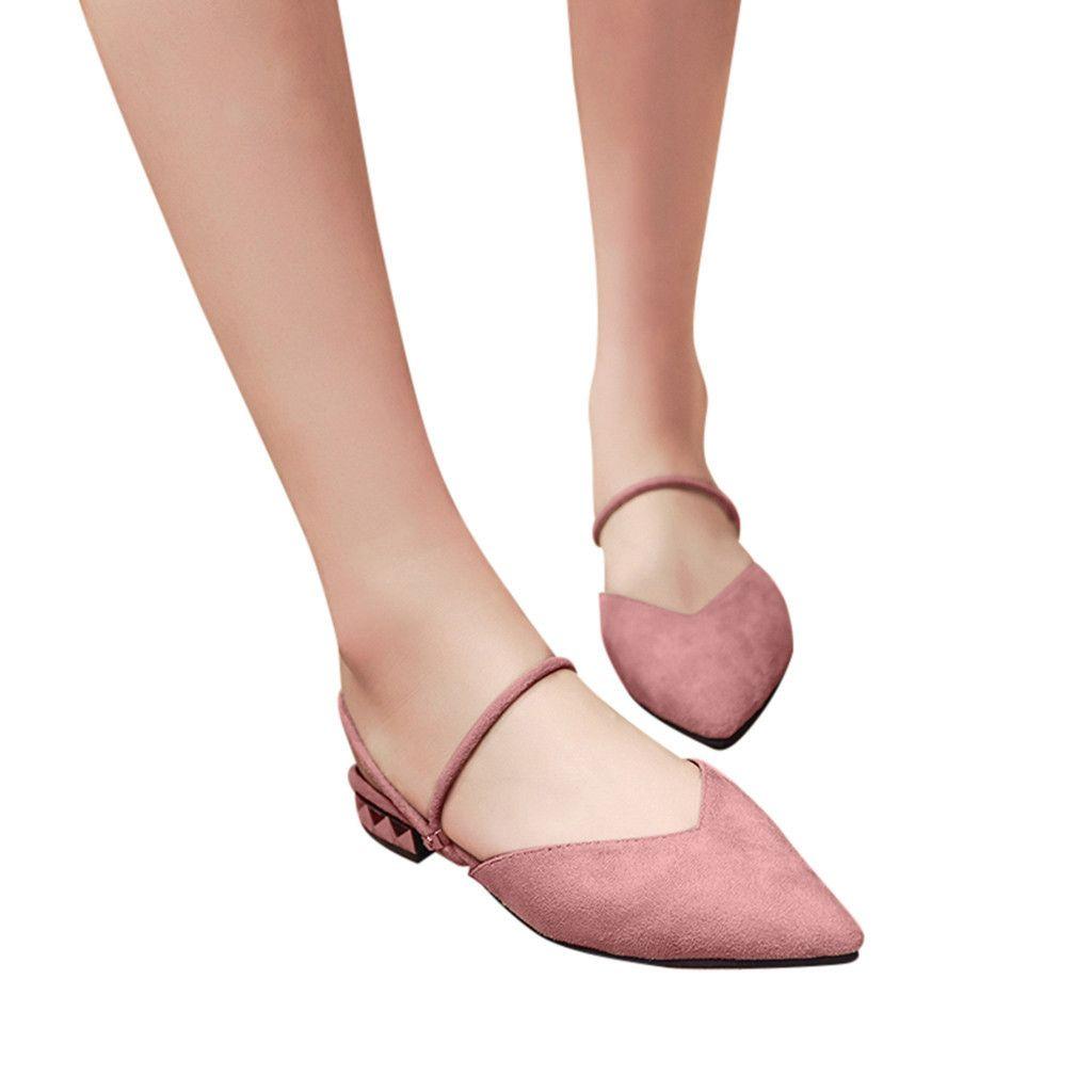 Cuadrados Bajos Mocasines Zapatos Para Escarpins Punta Youyedian Trabajo Sandalias Tacones Informal 2019 Mujer Femme De 5Rq3jc4AL