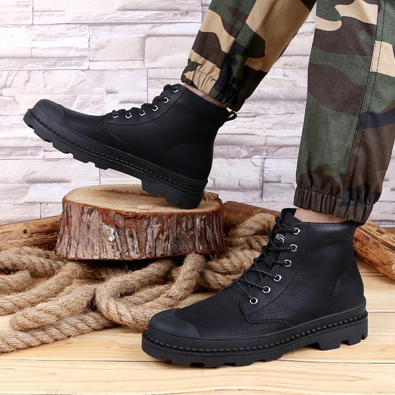 c3f1b57af5e Compre Botas Para Hombre Tendencia De Invierno Felpa Moda Cálida Botines Para  Hombre Botas Del Desierto Zapatos Casuales Para Hombre Zapatillas Cómodas  ...