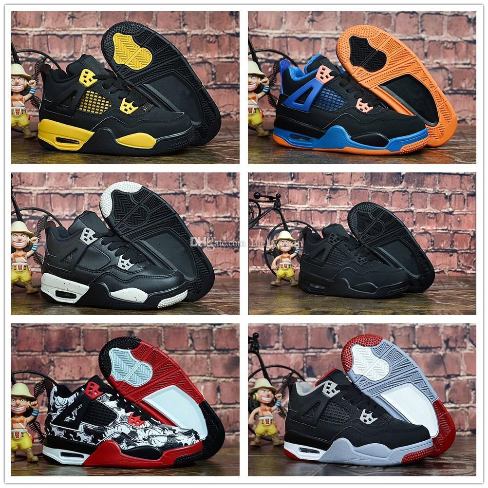 c39ce74b93a91 Acheter Nike Air Jordan Aj4 Créateur De Mode Chaussures 4 Enfants  Chaussures De Basket Enfants Sports De Plein Air Chaussures De Sport Baskets  De Luxe ...