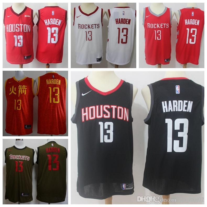super popular 51f3a 93e0a 2019 James 13 Harden Rockets Jersey The City Houston James 13 Harden ball  Jersey NEW