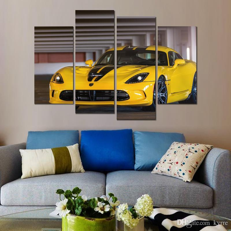 dodge viper srt gts canvas print arts pictures for dining room decor