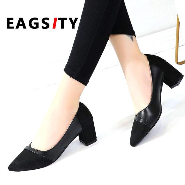 5175bc63d2f Designer Dress Shoes Pumps Women Block Heel Pointed Toe Party Dancing Work  Office Career Ladies Dress Suede Fabric Silver Heels Dress Shoes From  Deal55