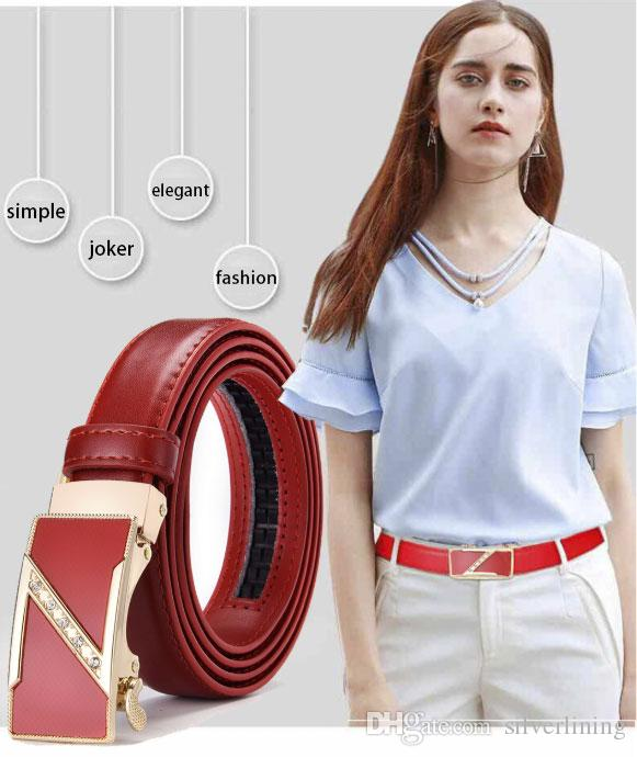 2020 womens luxury designer Belts automatically buckle belts designer female belt top fashion brand casual business gifts