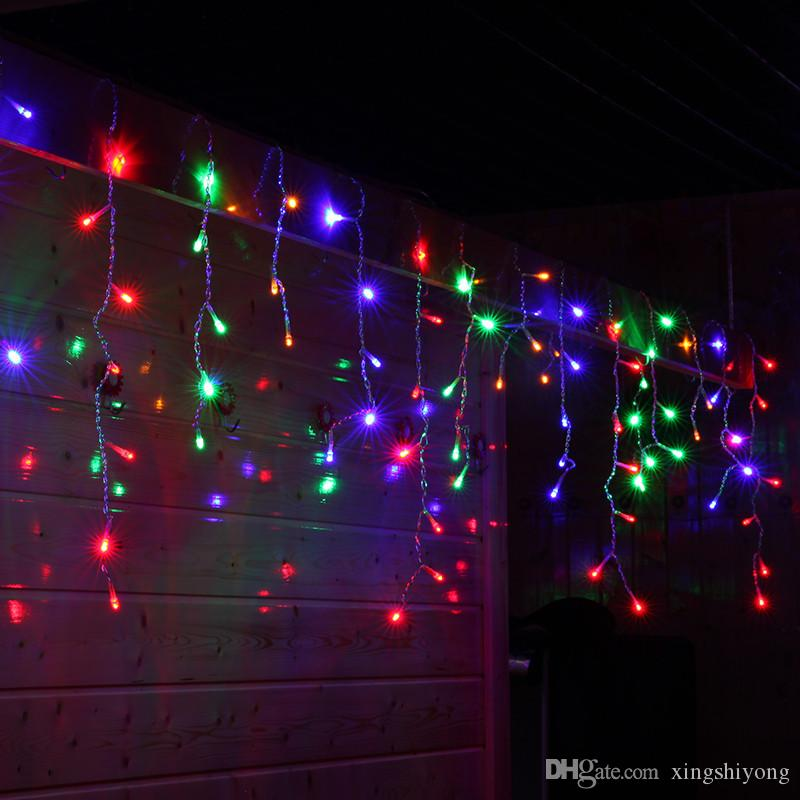 Wholesale Christmas Lights Outdoor Decoration 10 Meter Droop 0.3-0.5m Led Curtain Icicle String Lights New Year Wedding Party Garland Light
