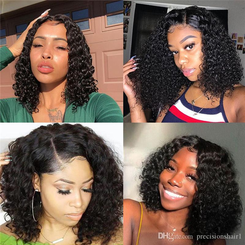 8A Brazilian Virgin Hair Wigs Mink Deep Curly Dressmaker Hair Curly Hair With 4x4 Lace Closure Unprocessed Free Shipping