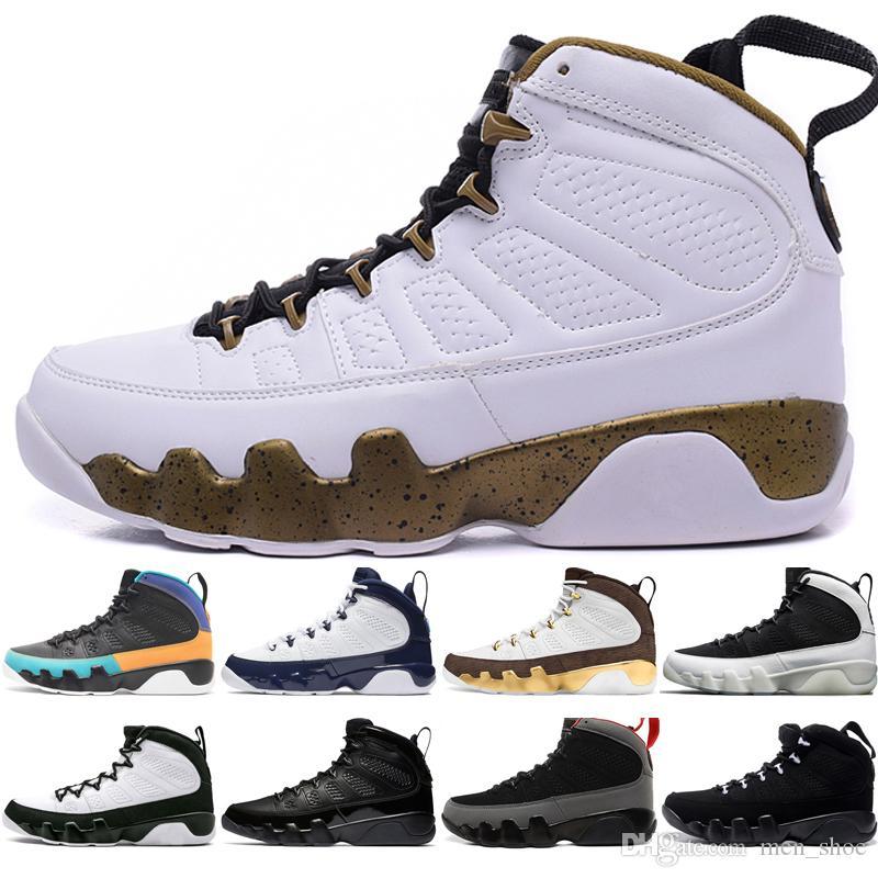 big sale a88d8 115a6 In Stock 9 9s Dream It Do It UNC Mop Melo Mens Basketball Shoes LA OG Space  Jam men Bred Black Anthracite sports sneakers designer US 7-13