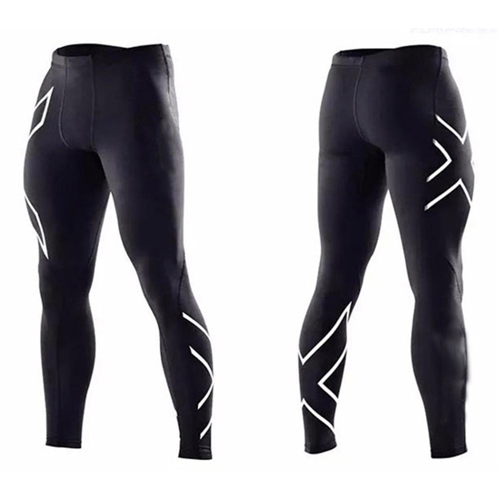 Men Compression Tight Leggings Running Sports Male Gym Fitness Pants Quick Dry Trousers Workout Training Yoga Bottom Soccer Pant