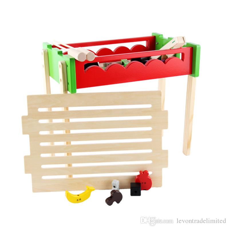New Wooden Baby Toys Wooden Grills Baby Educational Toys