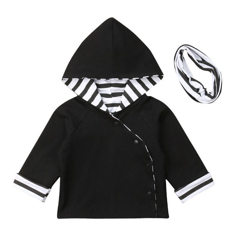 0fcc2cf99 2019 0 24M Newborn Baby Winter Clothing Toddler Kids Boys Girls Fashion  Striped Hooded Hoodie Tops Cute Sweatshirt Outfits From Laurul, $33.26 |  DHgate.Com