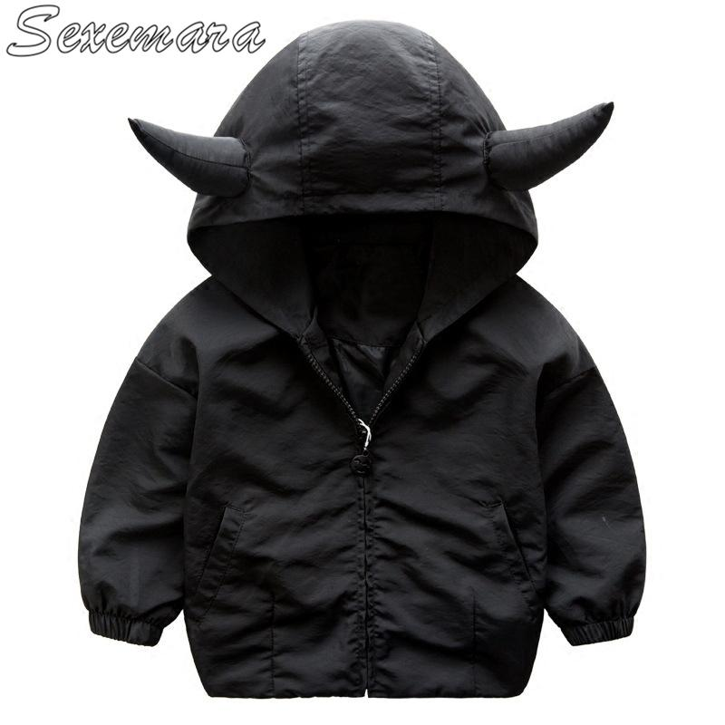 2fd1656cf0c8d SexeMara Children s wear jacket 2018 spring new small and medium-sized boys  and cattle head coat children s shirt