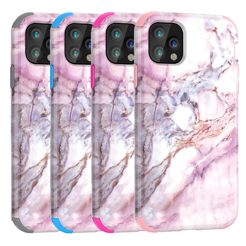 For Iphone 11 Case Marble Defender Case 3in1 Heavy Duty Hybrid Full-Body Protective Cover Phone Cases For Iphone 11 Pro Max