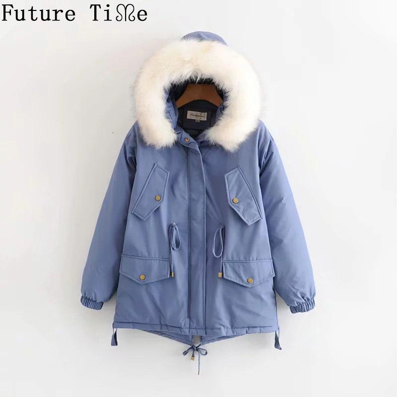 Future Time Winter Womens Coats Down Cotton Thicken Jacket For Women High Quality Parka women winter clothes jackets Coats F923 T191104