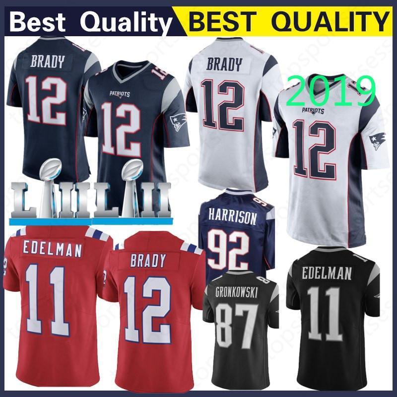 c45402b00 New 12 Tom Brady Patriot Jersey 10 Jimmy Garoppolo 11 Julian Edelman ...