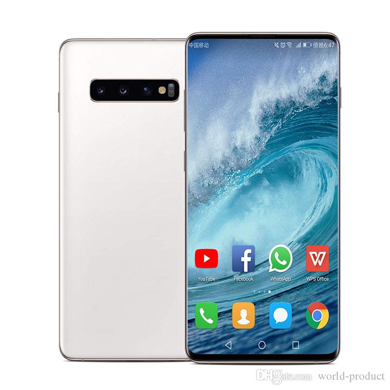 6 2inch Goophone 10plus s10 1G RAM 8G ROM Curved screen MT6580P unlocked  cellphone sealed box