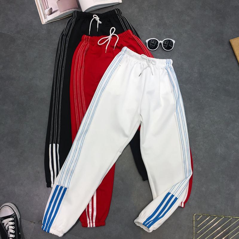 7f582935c9ceb4 Harem Pants Hip Hop Fashion Large Size S-2xl Loose Beam Legs Solid ...