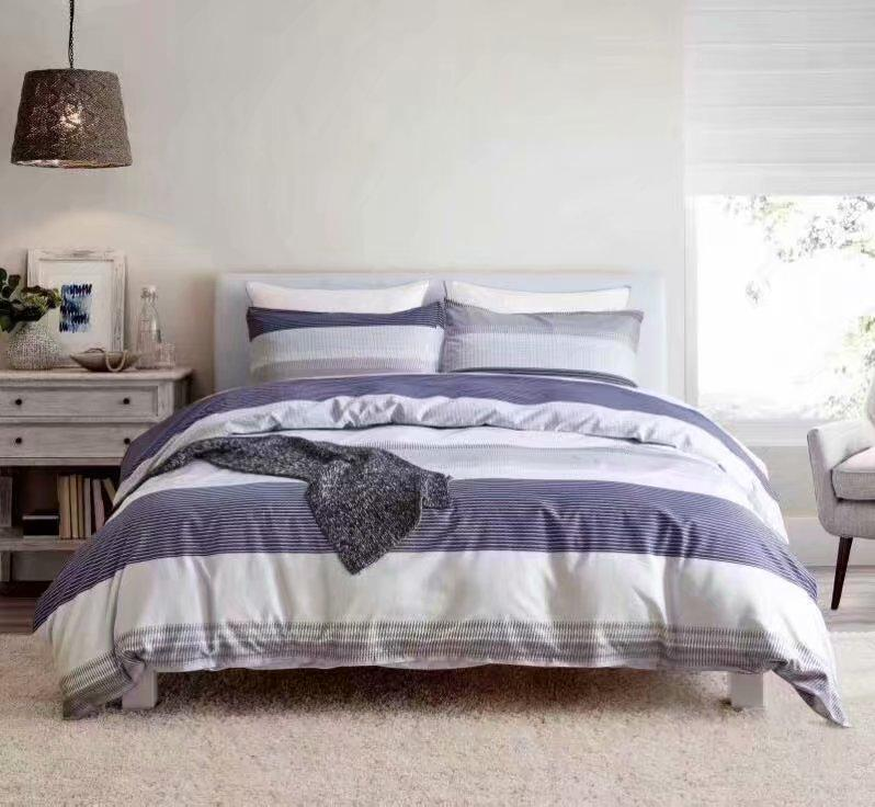 3pcs pillow case flat sheet twin/queen/king singer double bedding set