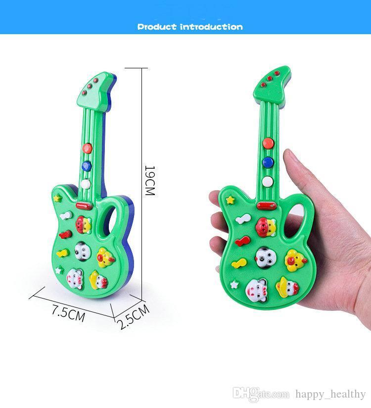 003 Nueva Guitarra De Juguete De Dibujos Animados De Moda Música De Alta Calidad Guitarra Eléctrica Para Niños Instrumentos Musicales Juguetes