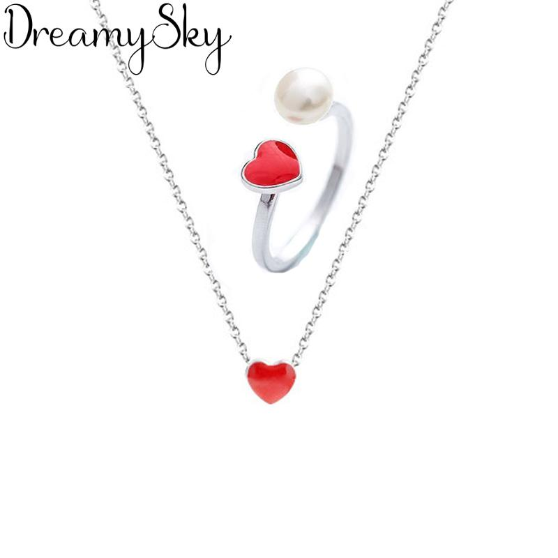Fashion Wedding Bridal Jewelry Sets Long Heart Necklaces Simulated ... 14bfdc0f84a7
