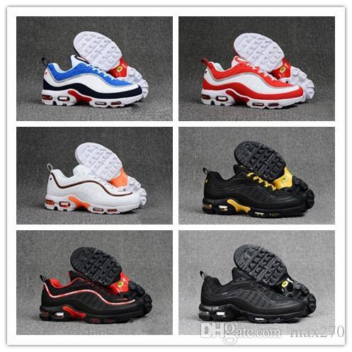 af07334aab 2019 Designer Mens 98 Running Shoes 98 Plus TN Triple Black Red ...