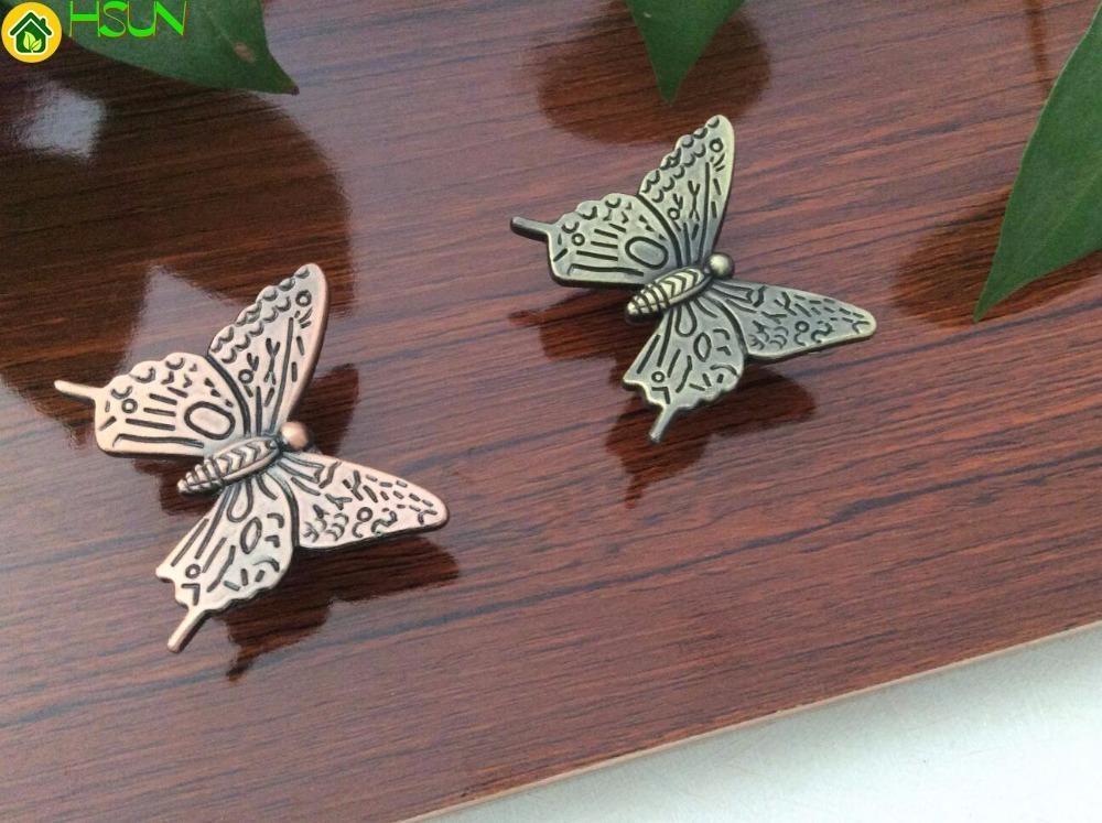 2019 Butterfly Knobs Drawer Pulls Handles Knobs Animal Dresser