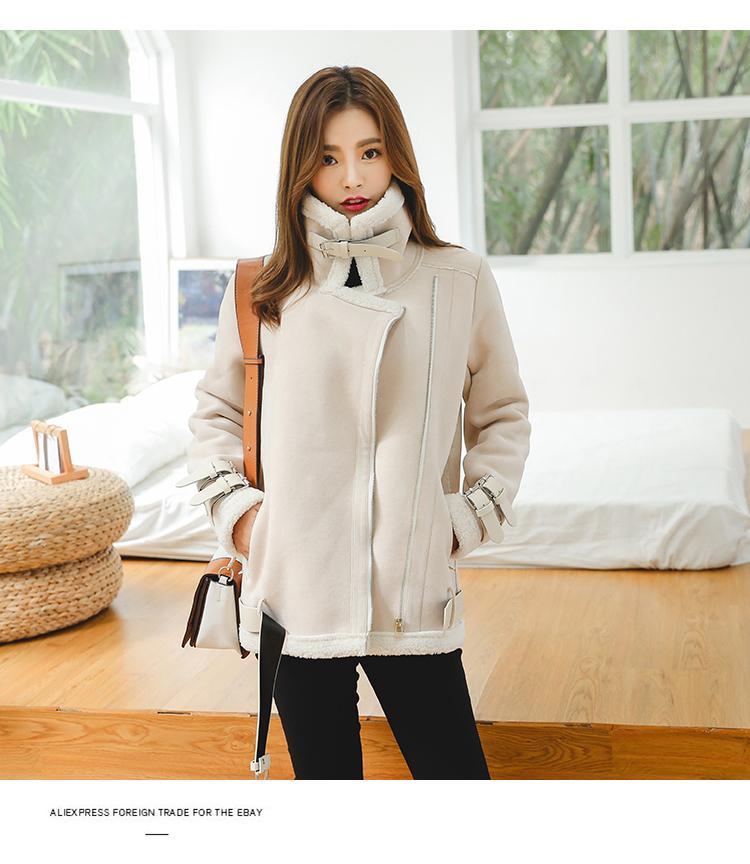 Chaqueta Faux Corea 2018 Japón Compre De Invierno Suede Sheepskin 0Fq1ng