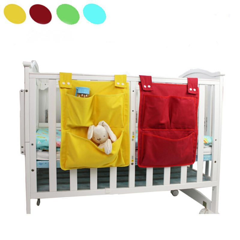 Cartoon Rooms Nursery Hanging Storage Bag Diaper Pocket For Newborn Crib Bedding Set Baby Cot Bed Crib Organizer Toy 45*35cm LE354