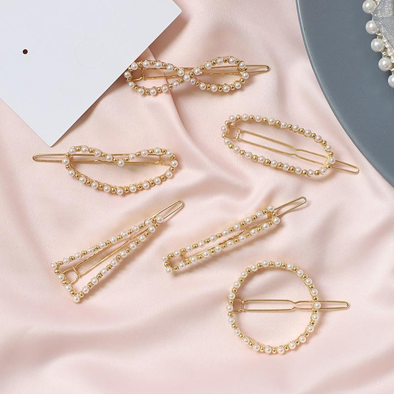 Women's Little Pearl Fork Korean Style Hair Clamp Imitation Beletz Elegant Hairclip Girl Hair Accessories