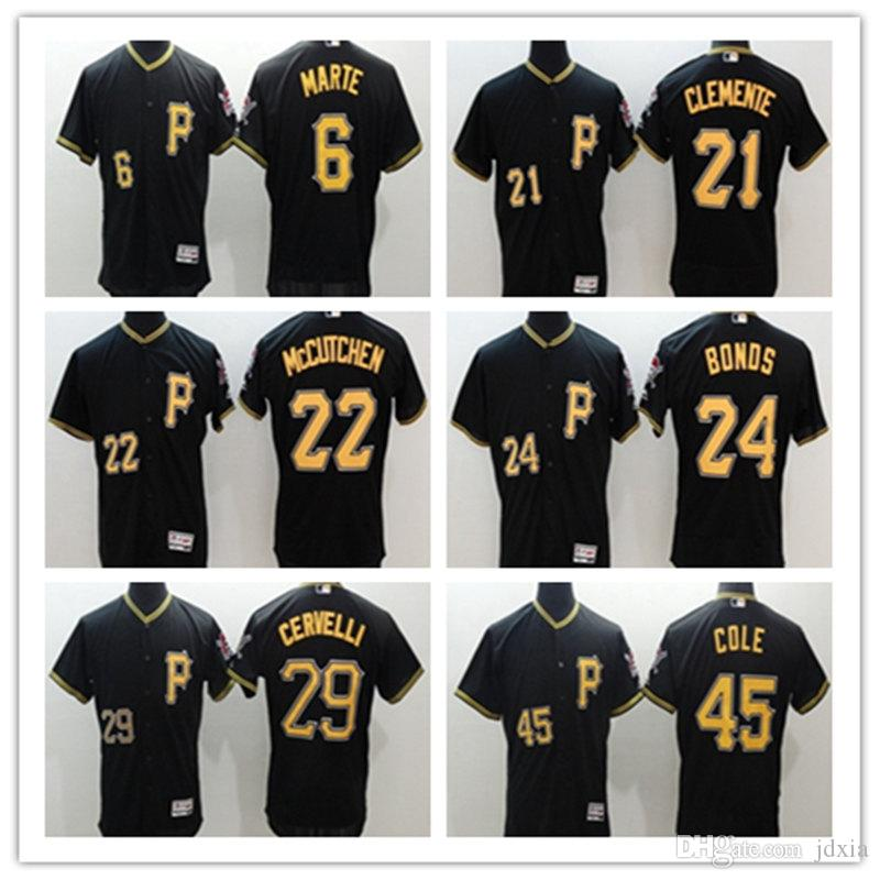 446daa822 Hot Sell Men s Pittsburgh Pirates 45 Gerrit Cole 6 Starling Marte 21 ...