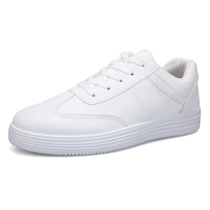 OLOME 2019 Tablet shoes Students hundred Korean version breathable small white shoes trend men's