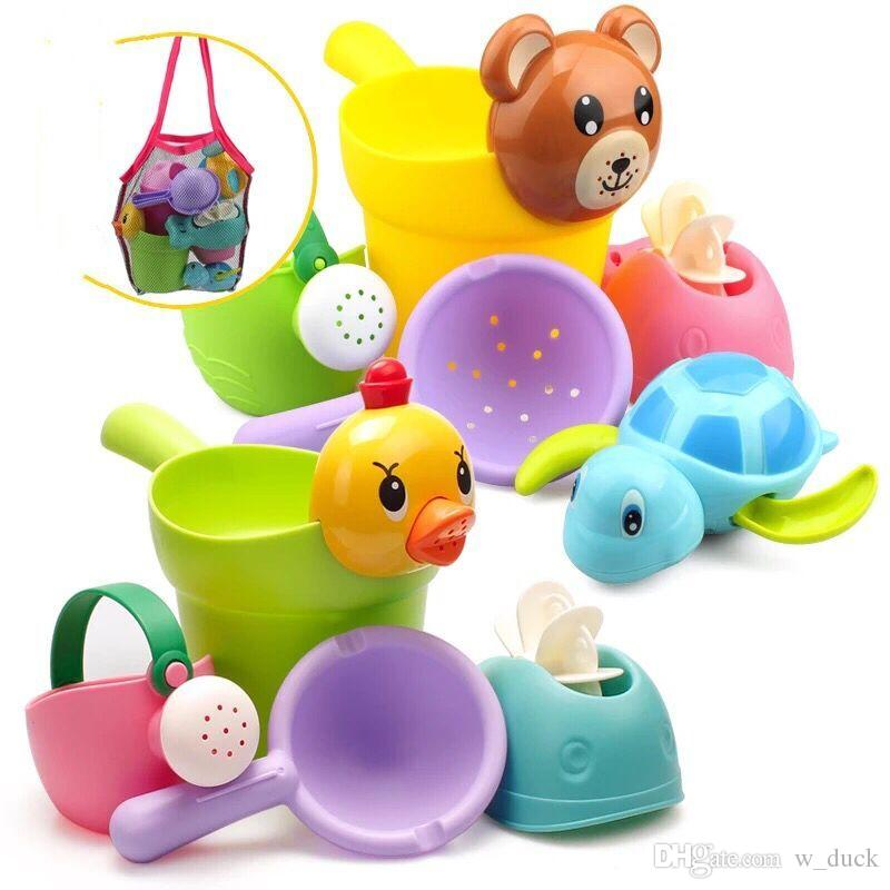 2019 Baby Bath Water Toy Little Paddle Car Wash Cup Watering Pot