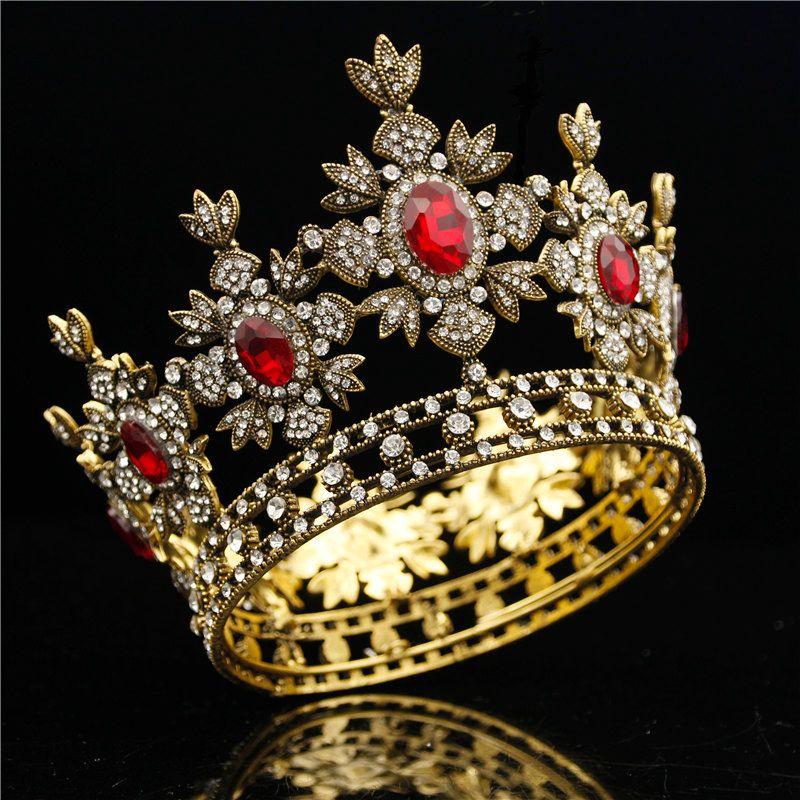 Acquista Corona Nuziale Barocca Abito Nero Tiara Crown Gold Royal King  Diadema Sposa Gioielli Capelli Da Sposa Maschile Diademi E Corone Copricapo  C18112001 ... 4e5621d1f295